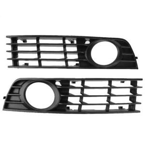 1 Pair Front Bumper Lower Side Fog Light Grille Cover for Audi A4 B6 8E080 A#S
