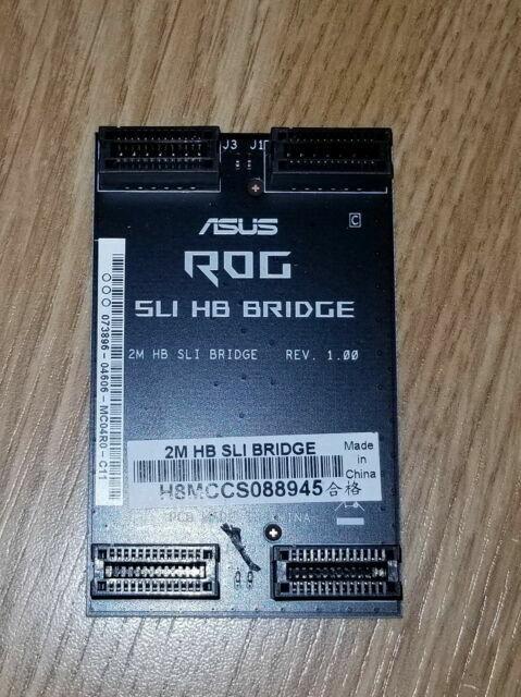 BRAND NEW GENUINE ASUS ROG 2M HB 2-WAY SLI BRIDGE HIGH BANDWIDTH