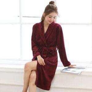 d1f4ef57d139 Image is loading Women-Night-Robe-Flannel-Sleepwear-Nighty-Dressing-Gown-