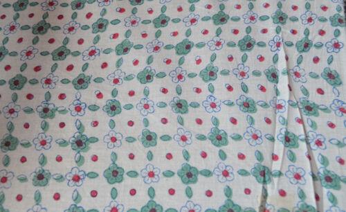 Indian Cotton Running Fabric Loose Sewing Craft 10 Yard Hand Block Print Ethnic