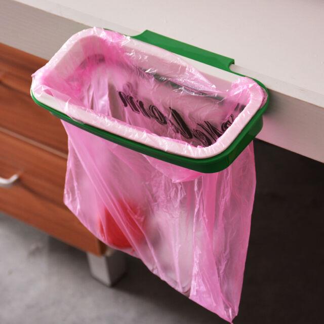 LOVE Hanging Cupboard Kitchen Cabinet Door Back Stand Trash Garbage Bags Storage