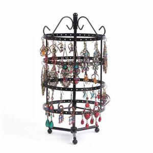 Image Is Loading 144 Holes Earrings Jewelry Display Rack Metal Stand