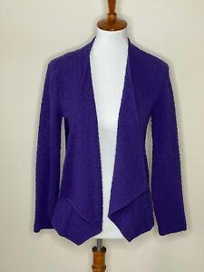Chico's 0 Purple Textured Open Front Long Sleeve Sweater Cardigan Women's