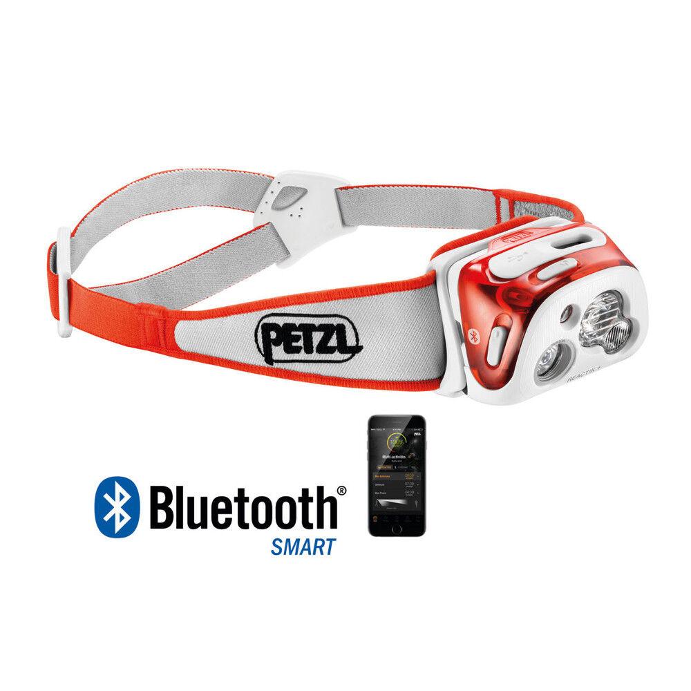 PETZL REACTIK + CORAL - LINTERNA FRONTAL PROGRAMABLE INTELIGENTE USB RECARGABLE