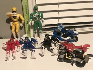 """1993 1994 Bandai Mighty Morphin Power Rangers 8"""" And Motorcycles - Black"""