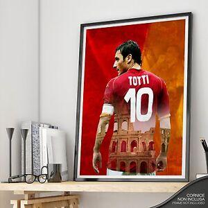 03f3981f3f Totti Fine ROMA Print in corso Francesco Caricamento Art dell'immagine AS  Capitano 6xAaqgn4wI