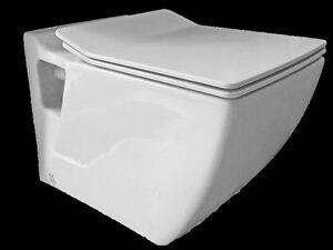 h nge wand dusch wc eckig taharet bidet taharat tp324 mit soft close deckel. Black Bedroom Furniture Sets. Home Design Ideas