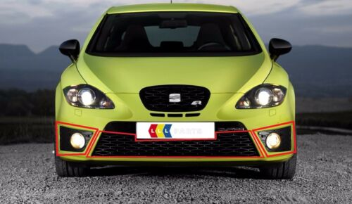NEW GENUINE SEAT LEON CUPRA FR 06-13 FRONT LEFT N//S RIGHT O//S CENTER GRILL SET