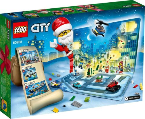 LEGO CITY 60268 Christmas Advent Calendar MINIFIGURES 24 Gifts 2020 New In Box