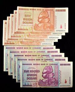 Image Is Loading 10 Zimbabwe Banknotes 5 X 500 Million