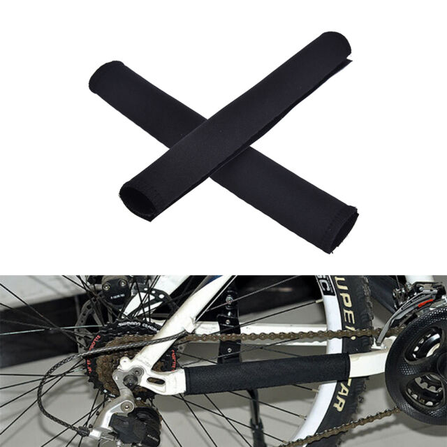 2X Cycling Bicycle Bike Frame Chain stay Protector Guard Nylon Pad Cover Wrap_LS