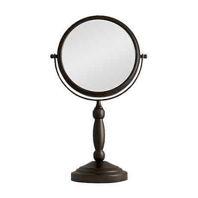 Zadro Dual Sided Bronze Mirror Stand 1X 10X Magnification Vanity Beauty Makeup