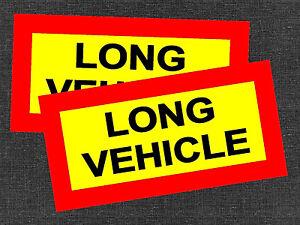 2-x-LONG-VEHICLE-VINYL-STICKERS-DECALS-SIGNS-CAR-TRUCK-TRAILER-LORRY-VAN