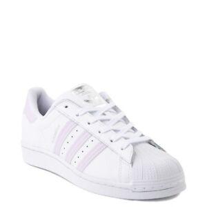 Détails sur Neuf adidas Superstar Chaussure Blanc Lavande Femmes Classiques Originaux