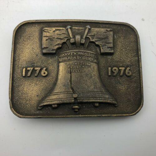 Vintage Liberty Bell Buckle Bicentennial Brass Belt Buckle 1970s Mens Accessory Collectible Buckle Panchosporch