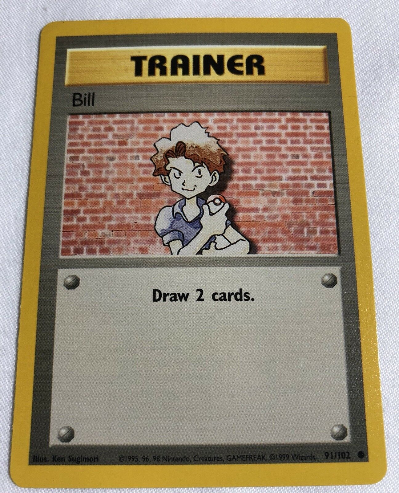Pokémon - trainer bill   91   102.