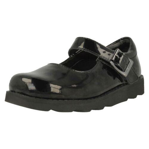 Negro Honor Niñas De Zapatos Elegante Colegio Clarks Charol Corona qZFExIOOw