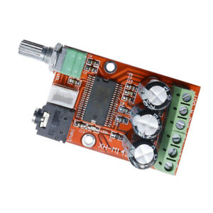 Courant-Direct-12-V-Dual-Channel-Digital-Audio-Amplificateur-Board-2-x-12-W-avec-bouton-rotatif