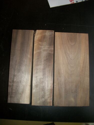 3 PC WALNUT LUMBER WOOD AIR DRIED BOARD LOT 1004A CARVING BLOCKS