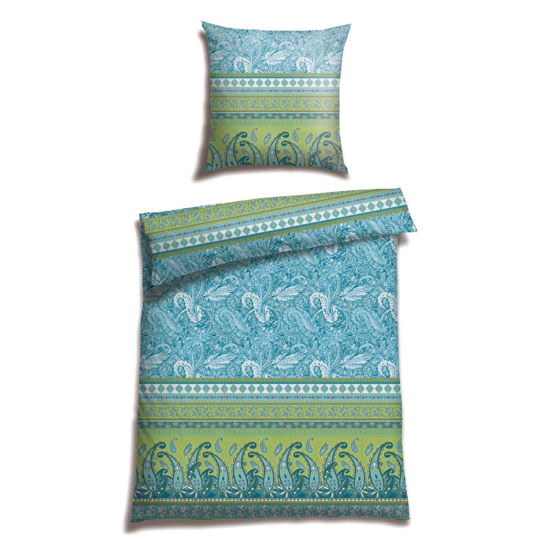 CASATEX Bettwäsche Balim Petrol Paisley Muster Ornamente Orientalisch Satin