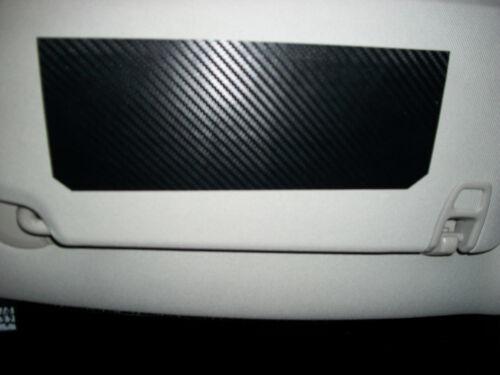 Carbon Fiber pair cover warning label decals vinyl sticker overlay Sun Visor