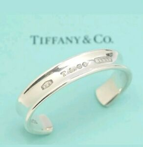 Authentic-Tiffany-amp-Co-Sterling-Silver-1837-Cuff-Bracelet