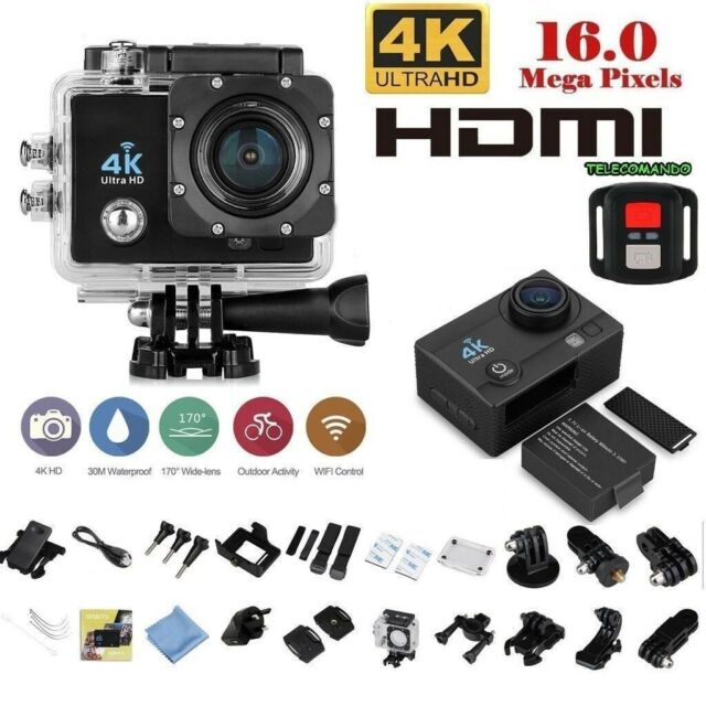 WEB CAM PRO SPORT ACTION CAMERA 4K WIFI HD 16MP VIDEOCAMERA TELECOMANDO WEBCAM