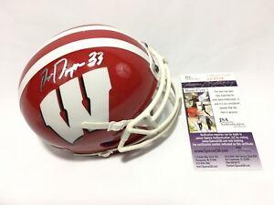 Ron-Dayne-Signed-Wisconsin-Badgers-Mini-Helmet-JSA-Coa
