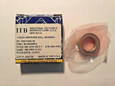 RBC ITB Bearing B538DDFS428 MS27646-38G MS2764638G New