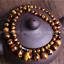 "Naturel 6-14 mm Jaune Tiger/'s Eye Gemstone Round Beads Necklace 18/"" PN1551"