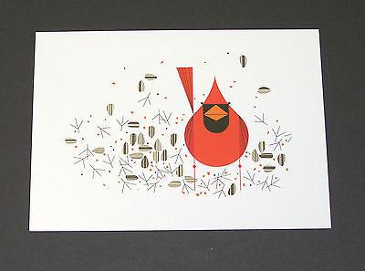 "Charles//Charley Harper Notecards /""Cardinal Closeup/"" 4 Pack w//Envelopes"