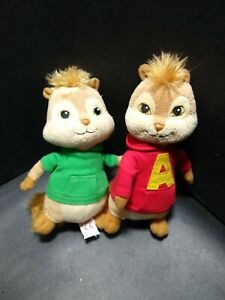 Ty Beanie Babies Alvin And The Chipmunks Plush Lot Of 2 Alvin & Theodore 2011