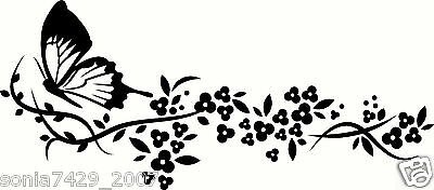 Butterfly Vinyl Graphic Decal Car Window Sticker Funny
