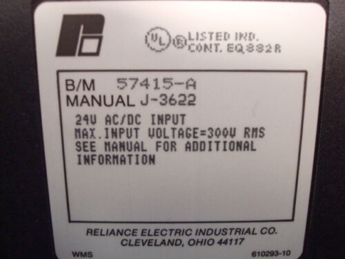 USED Reliance Electric 57415-A AutoMax 24V AC//DC Input Module