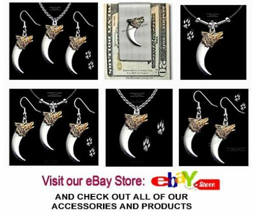 WOLVES WESTERN WILDLIFE JEWELRY GIFT FREE SHIP /' WOLF /& BEAR CLAW EARRINGS