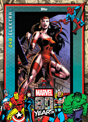800cc Topps Marvel Collect Elektra #49 80 Years Celebration DIGITAL CARD
