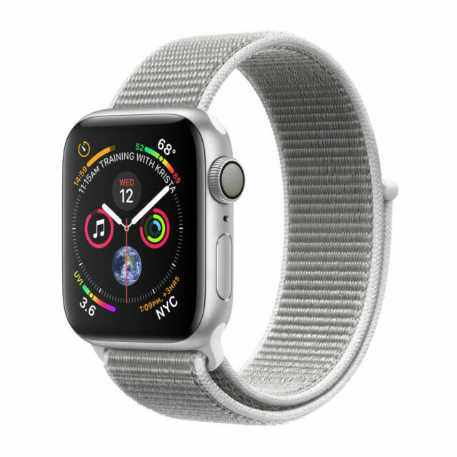 Apple Watch Series 4 44 Mm Silver Aluminum Case With Seashell Sport Loop Gps Mu6c2ll A For Sale Online Ebay