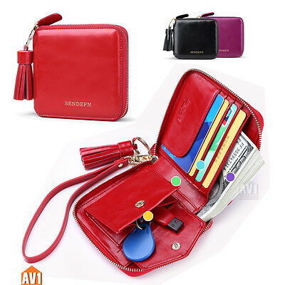 Brand Short Real leather women wallets fashion lady gift purse. good capacity.