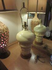 VINTAGE CERAMIC HAND MADE ICE CREAM CONE LAMP