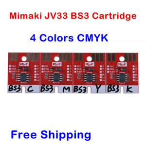 Chip-Permanent-for-Mimaki-JV33-BS3-Cartridge-4-Colors-CMYK-High-Quality