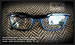 2a1448dcc Image is loading Prada-VPR17P-1AB-1O1-Limited-Edition-Black-Authentic-