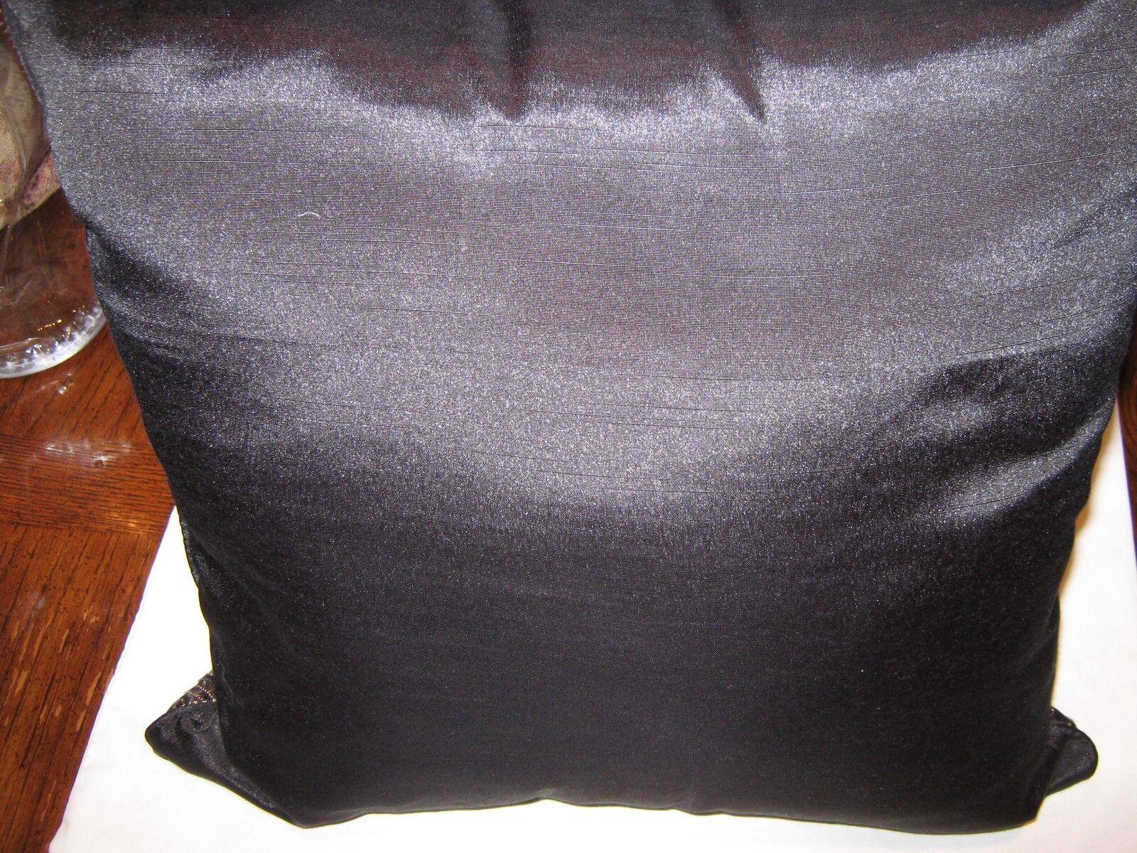"Designer Pillows , Black Gold Trim , 15"" X 15"" ,Lot of"