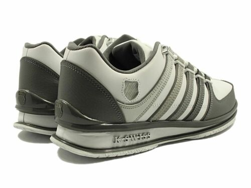 New Mens K-SWISS Classic Leather Shoes Lace Ups Trainers Rinzler Size 7-12