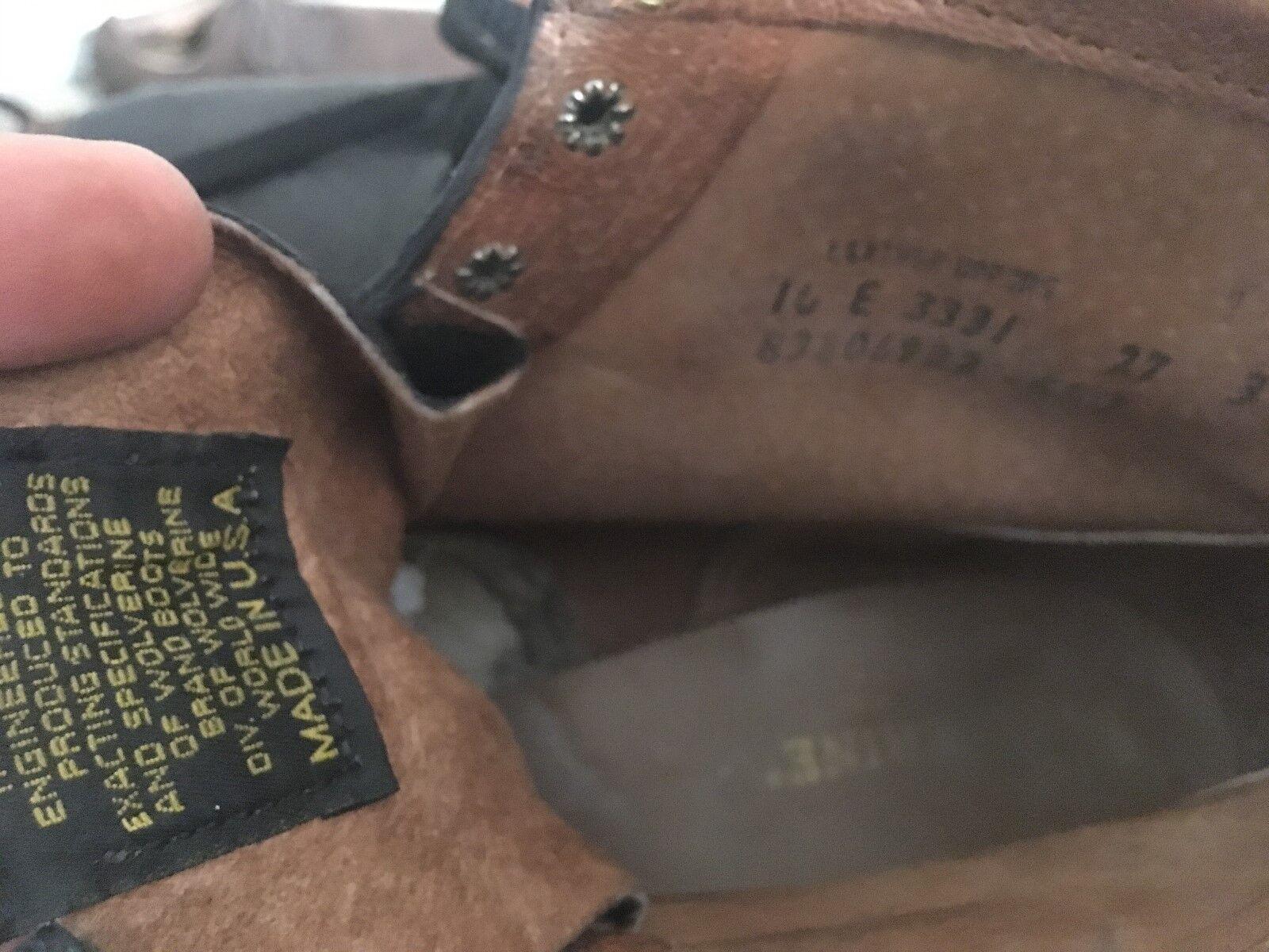 WOLVERINE BLACK USA DISTRESSED RANCH E WORK TRUCKER Stiefel 10 E RANCH 450794