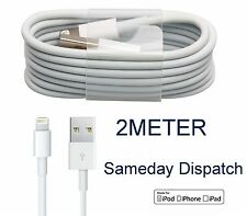 Genuine 2m Lightning Charger USB Cable Lead For Apple iPhone 6 6S/7/5S/5C/5 ipad