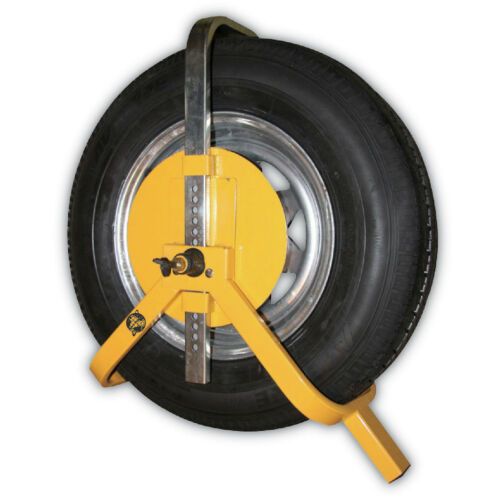 12-15 inch Tyre Wheel Clamp Security Lock Car Van Caravan Trailer Truck Safety