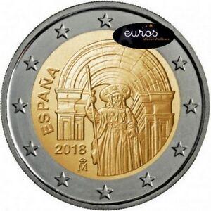 Piece-2-euros-commemorative-ESPAGNE-2018-Saint-Jacques-de-Compostelle-UNESCO