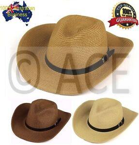 Mens Womens Stetson Raffia Straw Hats PANAMA Cowboy Natural Fedora ... 4996ea5ca3c