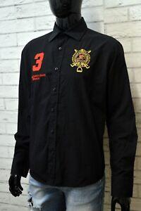 RALPH-LAUREN-Camicia-Nera-Uomo-Taglia-XL-Maglia-Camicetta-Polo-Shirt-Man-Black