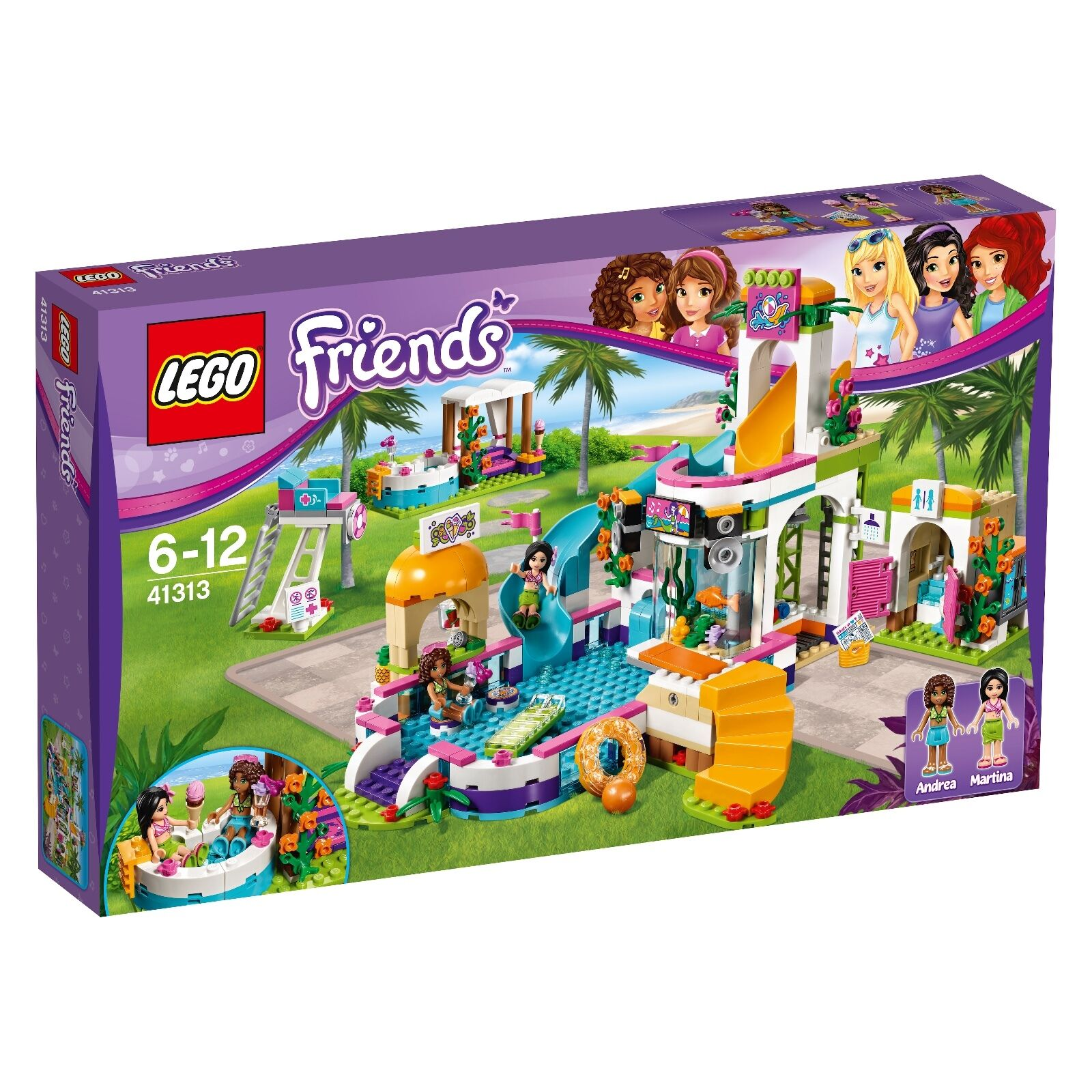 LEGO ® Friends 41313 Heartlake piscina all'aperto NUOVO OVP _ heartlakle Summer POOL NEW MISB